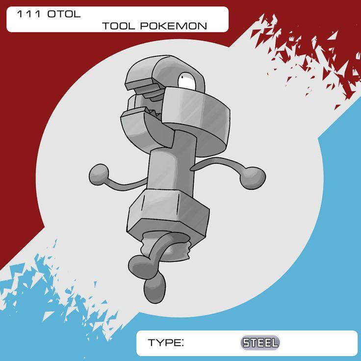 "The Klink of Goreu, here's Otol (anagram of ""tool"") it evolves at 34. (EDIT 20170520: Crafty nerf lifted) It's HA, Crafty, doubles the good and bad effects of held items in battle where applicable. Hope you like it! :] #pokemon #pokemonfanart #fanart #pokemongo #kanto #johto #hoenn #sinnoh #unova #kalos #alola #anime #manga #fakemon #digitalart #pokemonsun #pokemonmoon #pokemonsunandmoon #nintendo #gamefreak #videogame #pokedex #artwork #tool #steel"