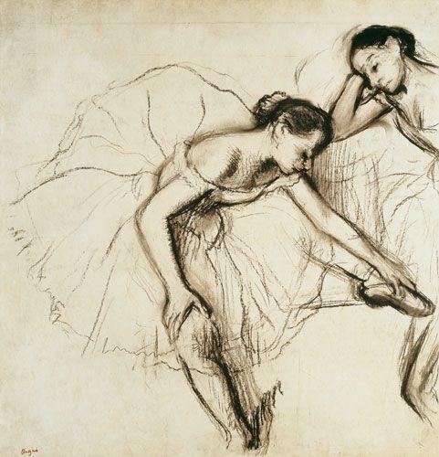 Bild:  Edgar Degas - Two Dancers Resting