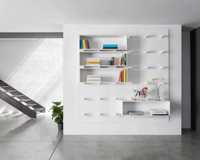 Dots Bookshelf Has Been Designed By Aris Architects For Polarislife And Won  The Red Dot Design Award 2014 In The Category Of Interior Design Elements Ideas