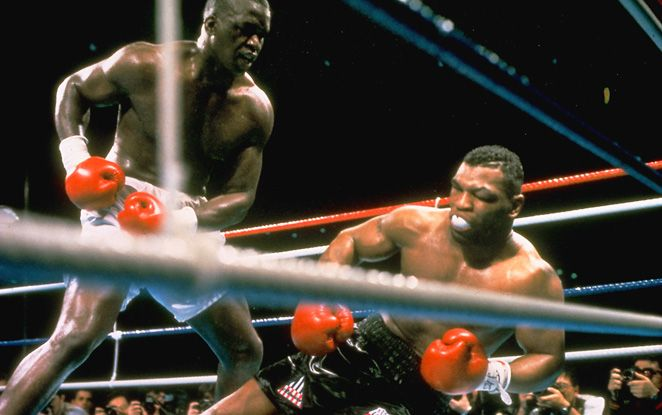 I need you to do what Buster Douglas did. Buster Douglas started fighting back... and the world was shocked. Goliath has been knocked down! What happened!?