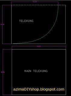 Cara jahit telekung ~ teori sahaja, so try with your own risk! :P