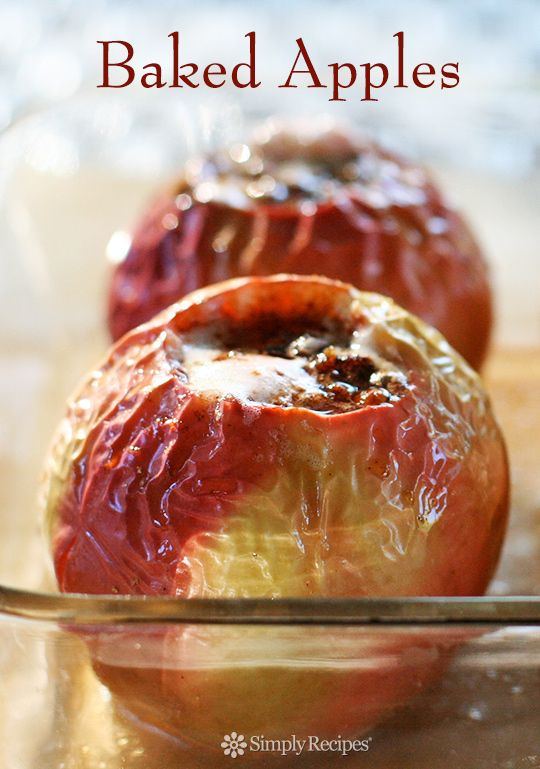 baked apples filled with pecans, cinnamon, raisins, butter, and brown ...
