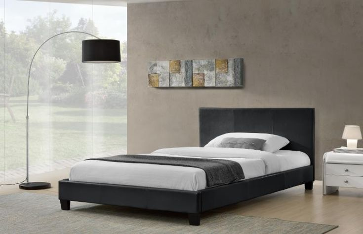 PU bed Newly arrived PU leather bed frame for sale!  It is cushioned with great density foam, and modern headboard which make it very comfy to rest on.  It also has sturdy steel frame and wooden arched slat base.  Black and white to choose Fits standard Queen sized mattress: 152 x 203cm More discounts are available if self pick up in Rocklea (682 Beaudesert Rd) Double size bed frame is also available. PM if interested