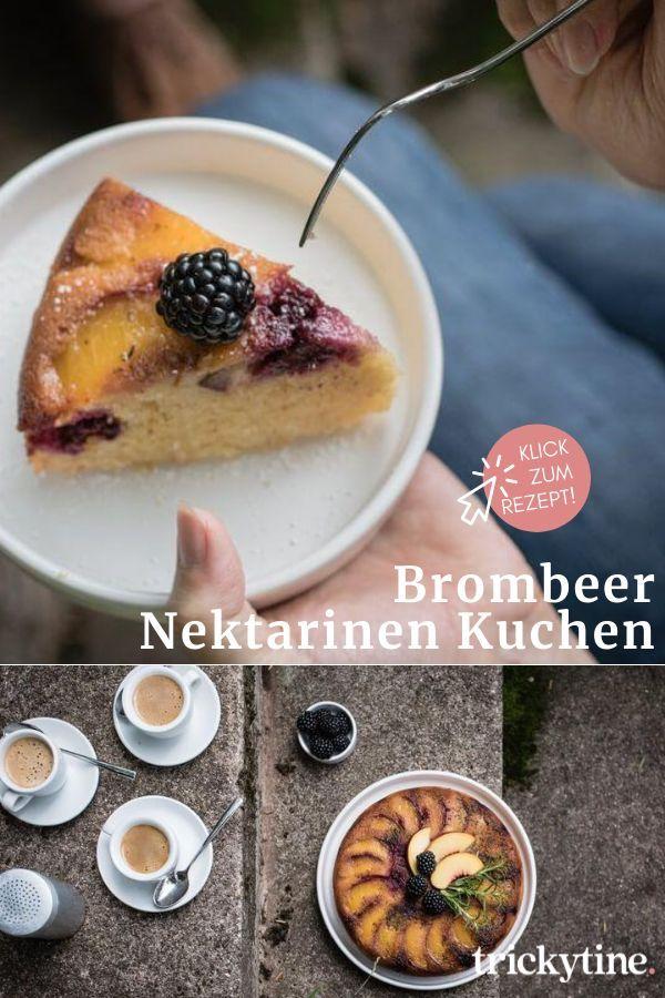 Brombeer Nektarinen Upside Down Kuchen Mit Rosmarinkaramell Brauner Butter Und Rumsirup Trickytin In 2020 Rezepte Lecker Backen Kuchen