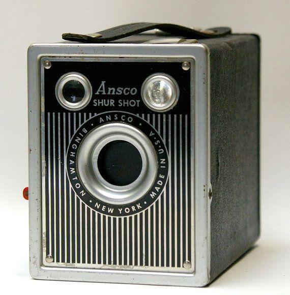 Vintage Ansco Shur Shot 120 film Camera - 1948 @Canemah Studios $20 #vintage #camera