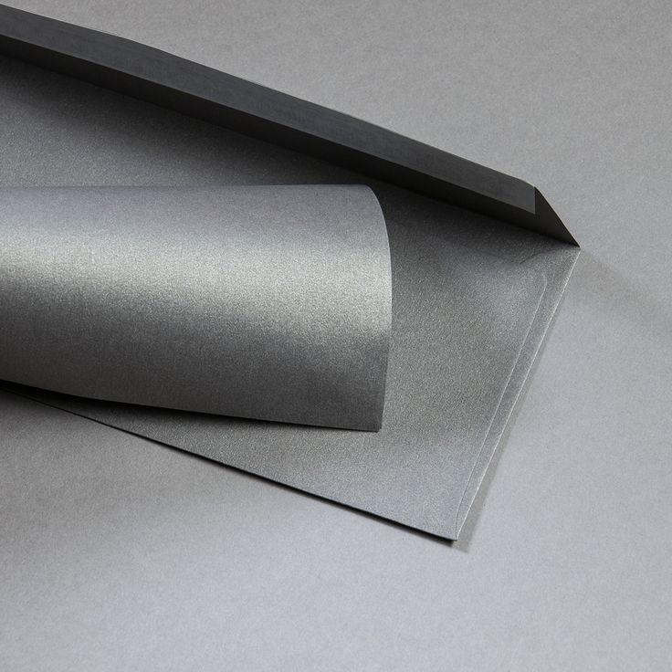 Metallics gebürstet Hüllen DIN lang Shadow