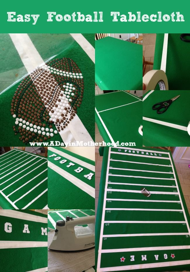 How to Make an Easy Football Tablecloth