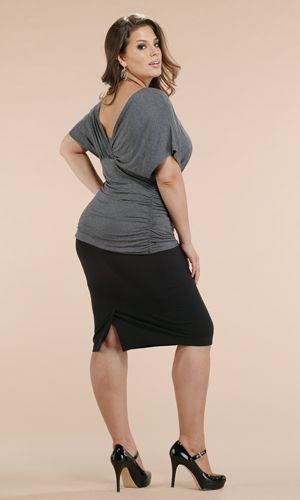 Got curves?!    Plus size black pencil skirt kiyonna
