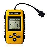 Updated Version Venterior Portable Fish Finder Handheld Fishfinder with Wired Sonar Sensor Transducer and LCD Display