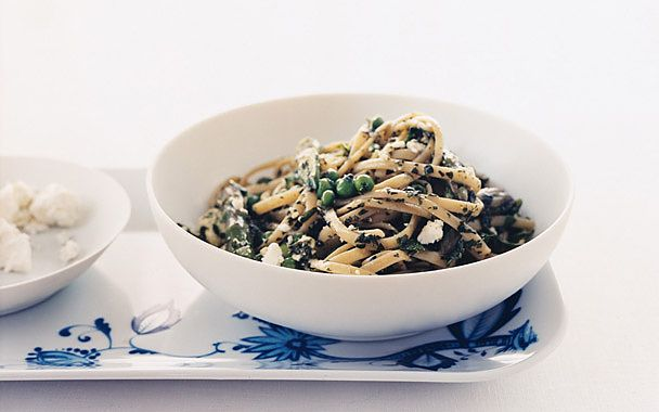 Pasta with Green Vegetables and Herbs: 2000s Recipes + Menus : gourmet ...