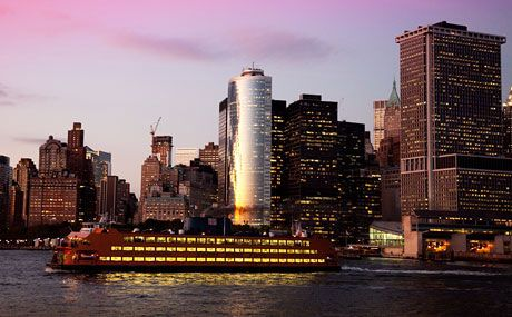 Staten Island Ferry- runs 24 hrs/day, 25-minute voyage by water from Lower Manhattan to Staten Island (views of NY harbor, Manhattan skyline and Statue of Liberty- $0.00
