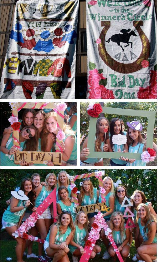 KENTUCKY DERBY theme • welcome to the ΔΔΔ winner's circle • UW ♆