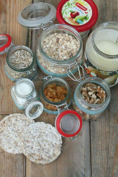 Gezonde rijstwafel mueslirepen - Lekker eten met Linda