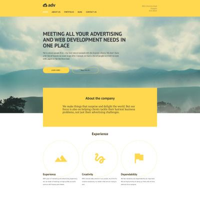Adv Parallax WordPress Template