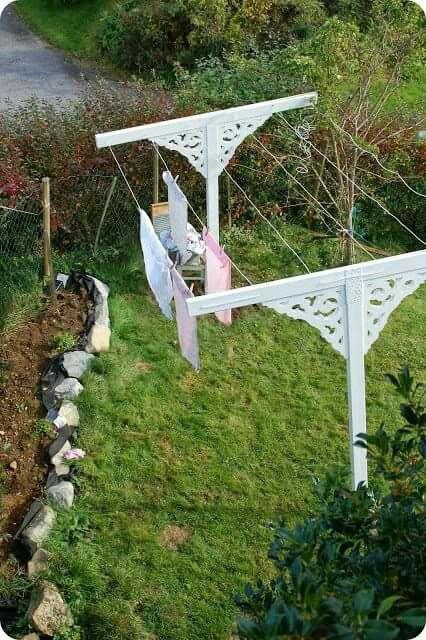 Victorian clothesline