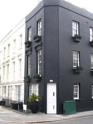 { exterior }: Kitchens Design, Black And White, Design Interiors, Black Building, Black Kitchens, Exterior Colors, Black White, Design Kitchen, Black Houses