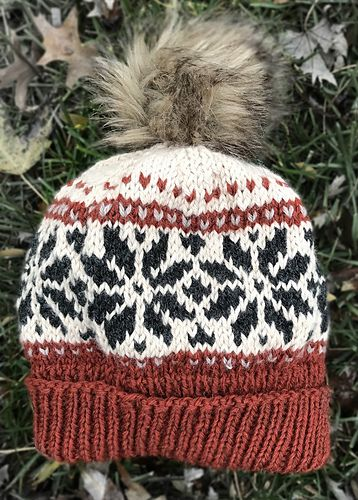 Ravelry  Snowflake Hat pattern by Sarah Kubik Fair Isle Knitting Patterns e84ff68f73c
