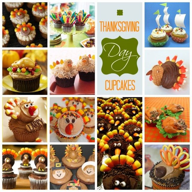 17 Thanksgiving Day Cupcakes - Oh My! Creative: 17 Thanksgiving, Kids Thanksgiving, Thanksgiving Turkey, Thanksgiving Ideas, Kids Diy, Fun Ideas, Thanksgiving Cupcakes, Crafts Stuff, Cupcakes Rosa-Choqu