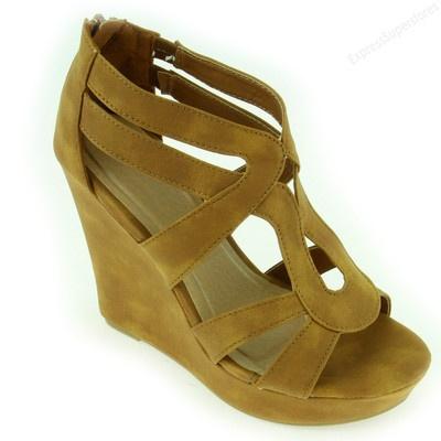 Womens Fashion Sandals Cute Wedge Heel Sandal Platform Open Toe Wedges Shoes | eBay