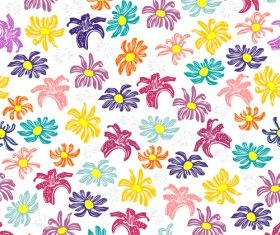 Seamless floral pattern beautiful vector material 01