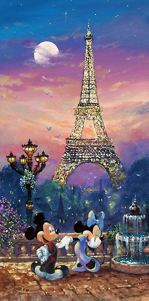 Mickey Mouse - Evening in Paris - James Coleman - World-Wide-Art.com