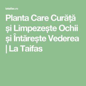 Planta Care Curăță și Limpezește Ochii și Întărește Vederea | La Taifas