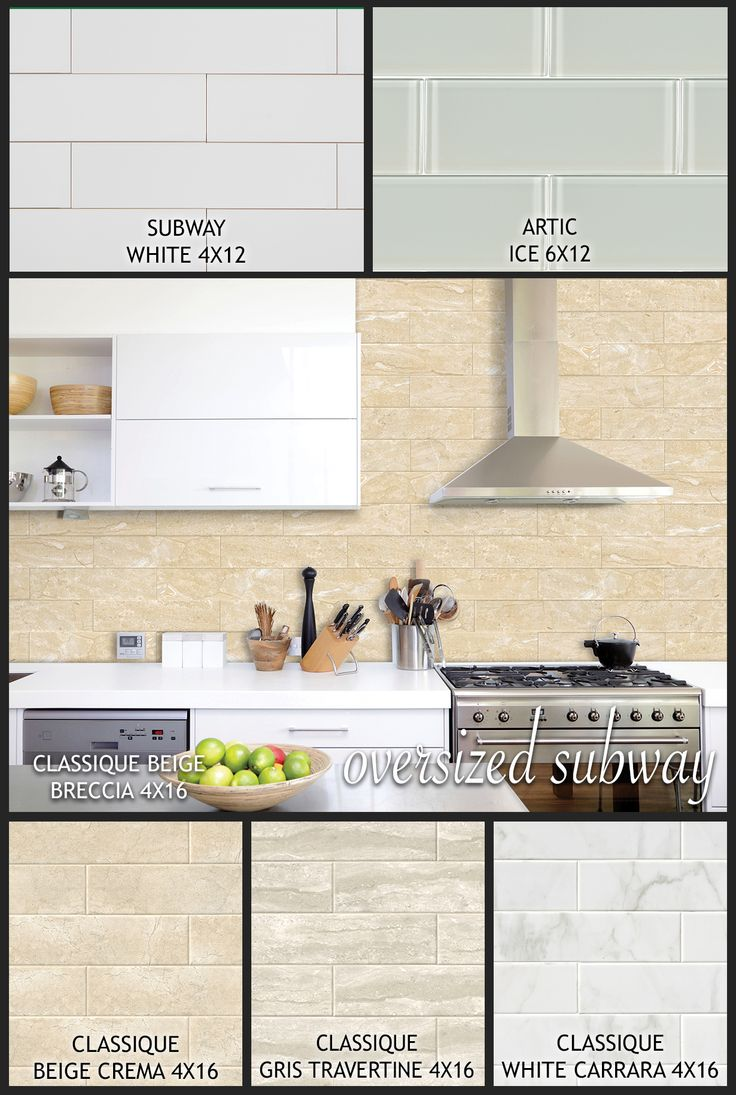 36 best kitchen group board images on pinterest dream oversized subway tile is giving new life to a design classic reimagined with contemporary large format sizes and fresh styles oversized subway tile offers dailygadgetfo Images