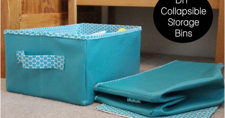 Faça caixas organizadoras dobráveis Passo a passo para você fazer estas caixas organizadoras dobráveis de tecido, para organiz...