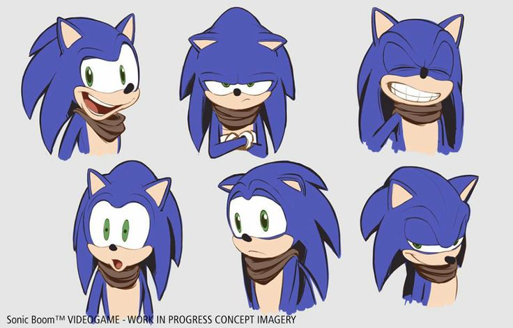 i love sonic boom so much! his expressions <3