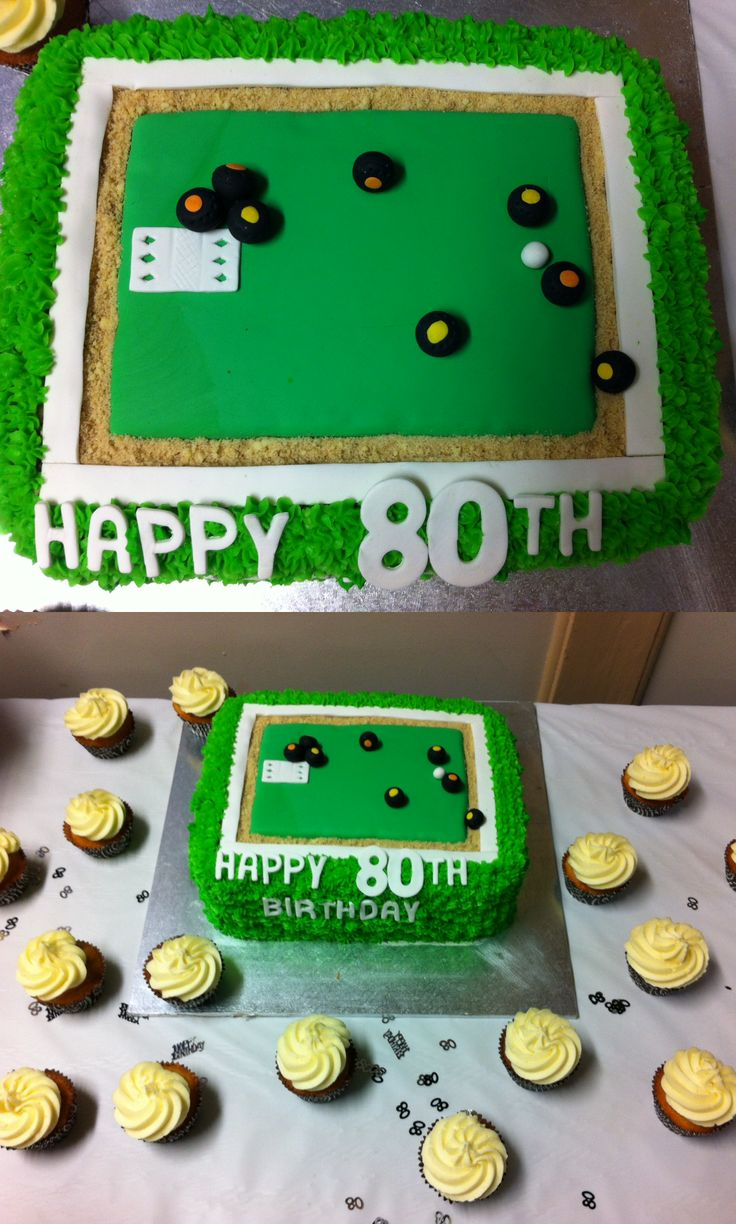 Bowling cake for a 80th birthday