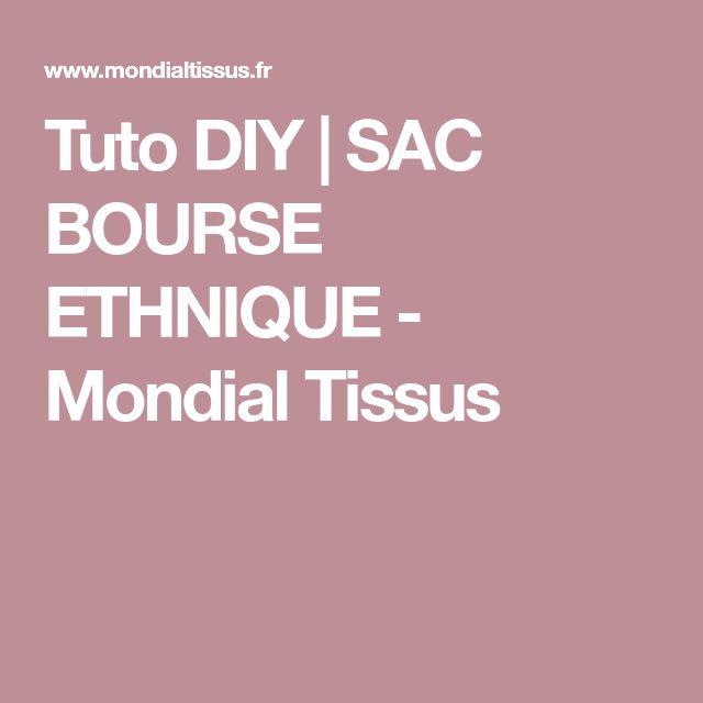Tuto DIY | SAC BOURSE ETHNIQUE - Mondial Tissus