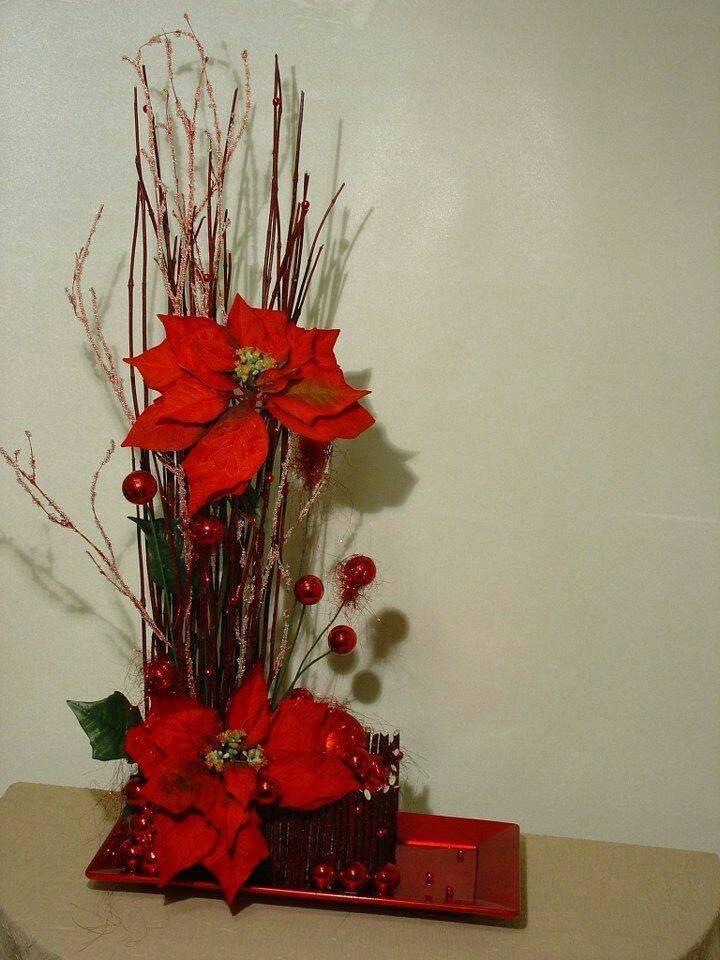 M s de 25 ideas incre bles sobre arreglos florales de - Arreglos navidenos para mesa ...