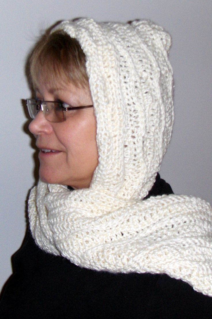 Free Knitting Pattern Hooded Scarf Pockets : 17 Best images about Hobbies - Crochet: Hooded Scarves on ...