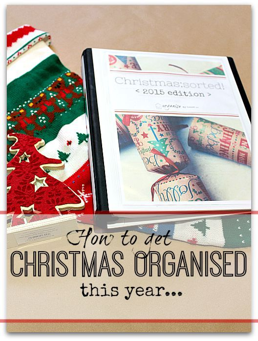 how to get organised for christmas