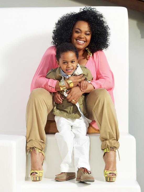 Jill Scott and son Jett Hamilton Roberts for the May 2013 issue of EBONY