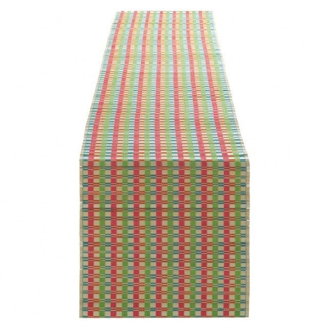 the baja multi coloured bamboo table runner adds colour and texture to an alfresco dining table buy now at habitat uk - Multi Castle Ideas