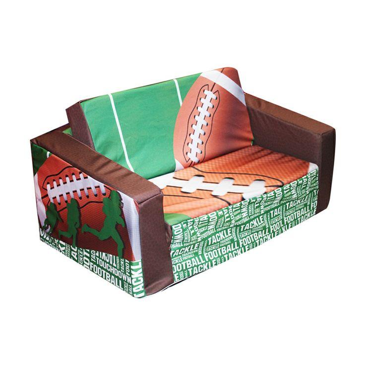Komfy Kings, Inc. 31157 Newco Kids Football 50 Yard Line Kids Flip Sofa