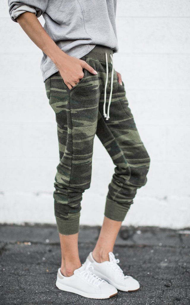 Eco Camo Joggers for the lazy but chic days. ILY COUTURE