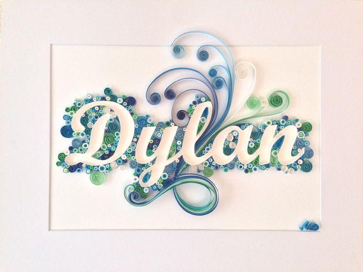 Cadre modèle 'Dylan' quilling entièrement personnalisable : Décorations murales par made-in-paper