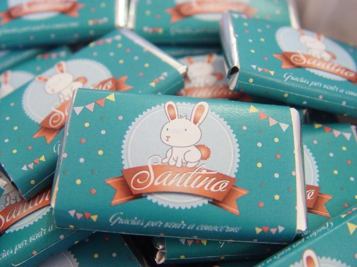 Souvenir Nacimiento de Santino. | Chocolates + Tarjetas.    ® MORRONGO DESIGN 2012. All rights reserved