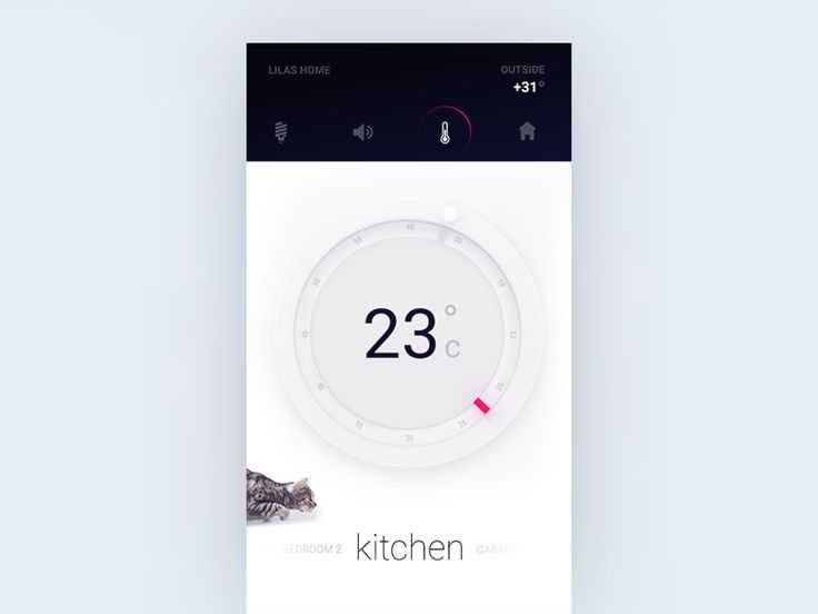 Thermostat for Smart Home product UI exploration  by Gleb Kuznetsov✈