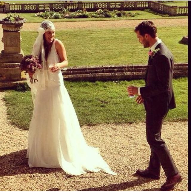 jamie dornan and amelia warner on their wedding day