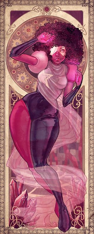Garnet from my steven universe art nouveau series • Buy this artwork on apparel, stickers, phone cases, and more.