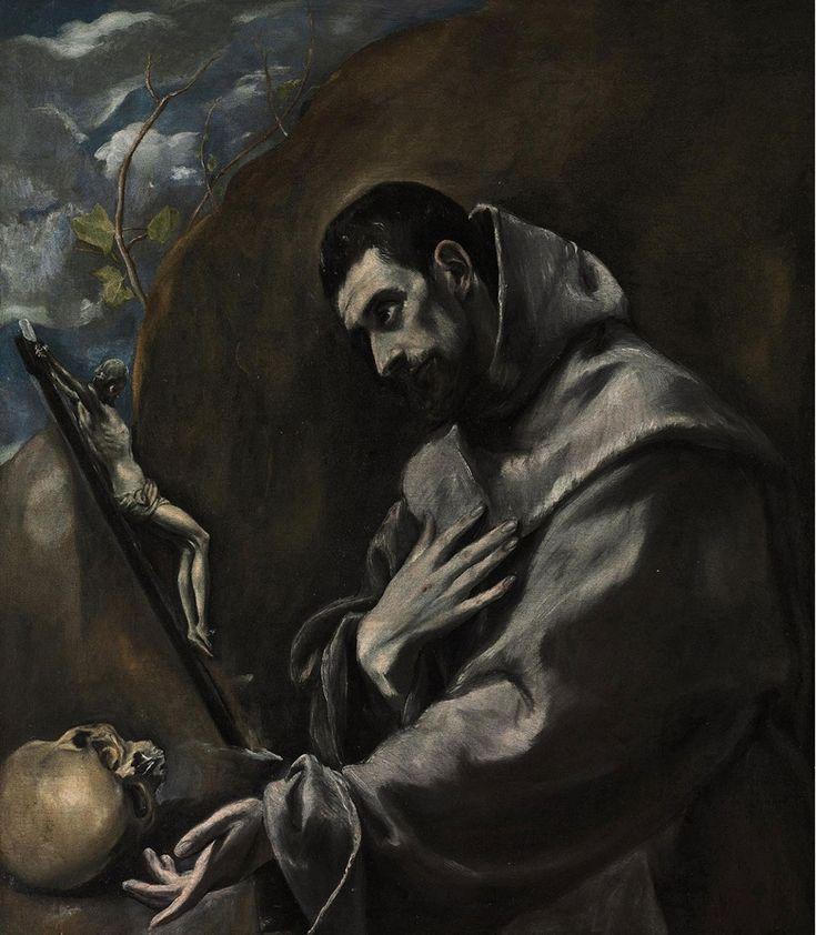 #rinceau #anthemion #Goguryeo mural painting and #ElGreco (1541-1614), Saint Francis of Assisi in meditation. 39⅝ x 34¾ in (100.7 x 88.3 cm). Sold for £1,161,250 on 7 December 2010 at Christie's in London 忍冬唐草文인동당초문, 江西大墓강서대묘 Large-sized Tomb in Gangseo, Goguryeo 6c, 평안남도 강서군 (keter) 진파리 1호무덤 真坡里1号墳, Tomb No. 1 in Jinpa-ri, middle 6c, 평양시 력포구역 룡산리 제령산 서쪽 기슭 (구, 평남 중화군 무진리 진파동, 중화군 진파리)