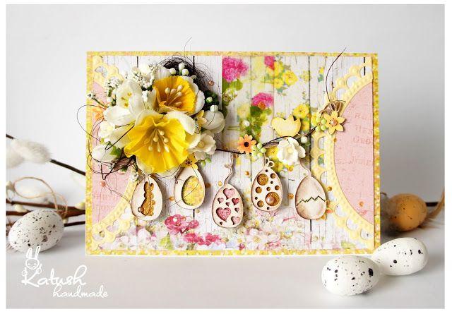 Easter card, Handmade by Katush: Veľkonočná challenge / Easter challenge
