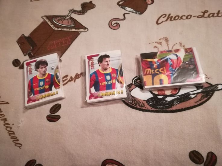 Panini FC Barcelona 2010 2011 complete sticker set LEO MESSI INIESTA DAVID VILLA #FCBarcelona