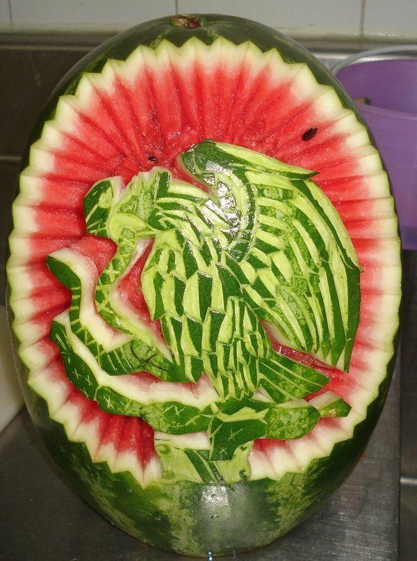 ¡¡¡Escudo en sandía!!! Las sandías son  de África, pero en México se cultivan muy bien y nos encanta que tengan los colores de nuestra bandera