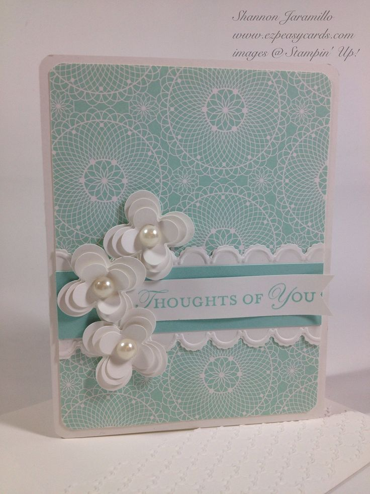 EZPeasyCards - Blog - Loving Thoughts. The colors and shape of flowers and paper are spectacular.