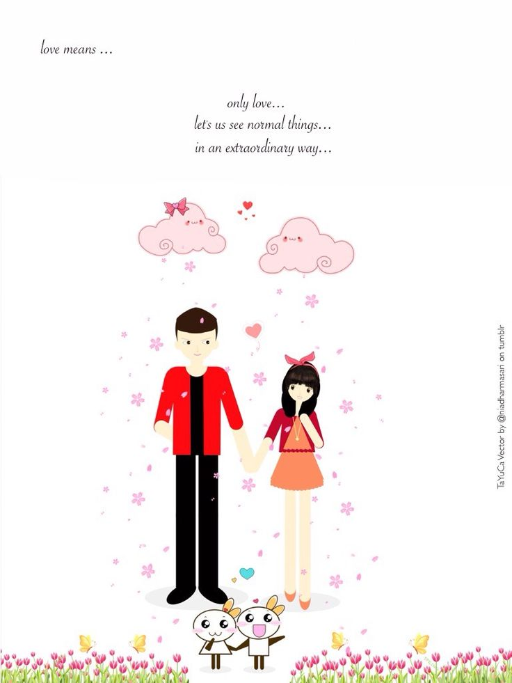 Cute Doodles — Love means…only love (^▽^)