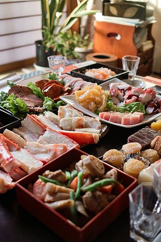 Osechi dishes (Japanese food for the new year)